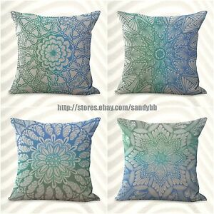 4pcs boho mandala yoga meditation cushion cover decorative bulk lot