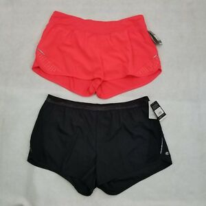 Set Of 2 Champion C9 Shorts Women's Duo Dry Inner Brief Size XL Pink Black