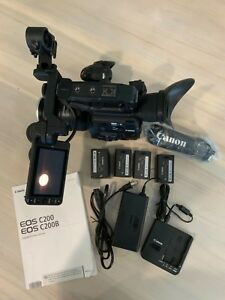 Canon EOS C200 EF Cinema Camera with 24-105mm Lens LCD Monitor Handle  Grip