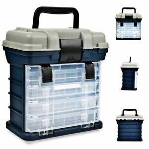 Fishing Tackle Case Lure Bait Storage Box Portable Big Hooks Clear Tools Large