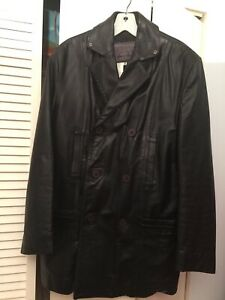 Versace Vintage Black Leather Jacket - Men Italy Size 40