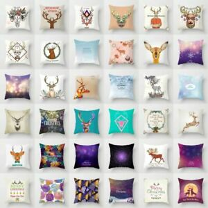 Decor Home Cover Elk Case 18#x27;#x27; Cover Deer Sofa Cushion Pillow Pillow Throw $2.55