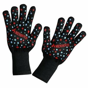 BBQ Glove 932°F Extreme Heat Resistant oven gloves for Cooking,Grilling,Baking