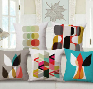 18 Cover Home Pillow Case Abstact Sofa Throw Colorful Decor Geometry Pattern