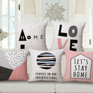 Bed Sofa Home Case 18quot; Pillow Decor Cotton Cover Linen Waist *Love* Car Cushion $3.09
