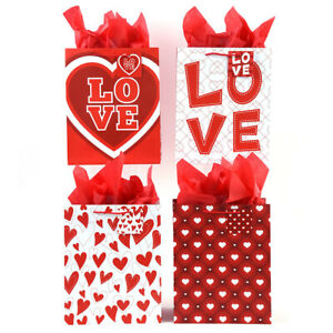Love Struck' Large Size Printed Gift Bags in 4 Assorted Designs - CASE OF 120