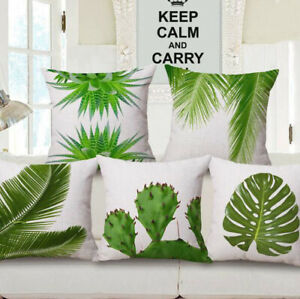 18quot; Cover Linen Waist Pillow Decor Bed Home Case Car Cushion Cotton Sofa Leaves $2.96