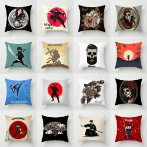 Home Waist Cover Bed Sofa Throw Ninja Polyester Decor Cushion Rose Pillow Case $2.55