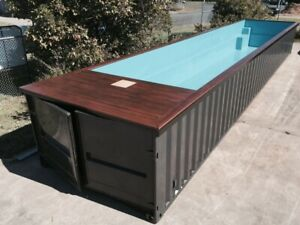 Swimming Pool 20ft. and 40ft. lengths Safe Room Designs Container