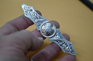 Finest Fancy FLEMING Sterling Silver Decorative Brow Plate w CONCHO Design