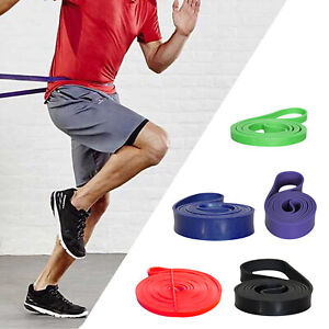 RESISTANCE Pull Up BAND LOOP YOGA 5 SETS HOME GYM FITNESS EXERCISE WORKOUT LOT