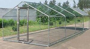 Large Metal 26x10 ft Chicken Coop Backyard Hen House Cage Run Outdoor Cage $688.95
