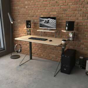 Gaming Studio Desk Office Home Workstation Computer PC Laptop Study Table Wood