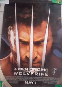 Stan Lee Signed 27x40 Double Sided Wolverine Poster PSA W67672