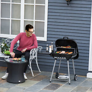Outsunny 22 inch Portable BBQ Charcoal Steel Grill Camping Backyard Cooking