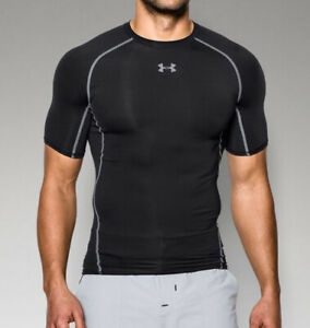 Under Armour Men's HeatGear Armour Short Sleeve Compression Shirt 1257468 Black