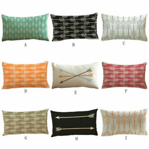 Home Case Printed 12*20quot; Cover Sofa Rectangle Car Arrow Pillow Bed Cushion Throw $3.09