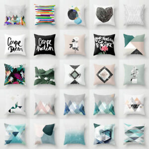 Cover geometry Bohemian Home waist cushion pillow Linen cover case Cotton Decor $3.09