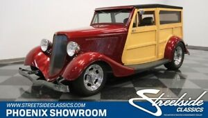 1933 Other Streetrod Woodie V8 Auto Hot Rod Classic Vintage Collector Custom Wood Red Black Leather P
