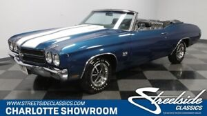 1970 Chevelle SS Convertible classic vintage collector ragtop droptop super sport chevy black fatham blue