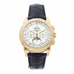 Patek Philippe Grand Complications Calendar Manual Gold Mens Watch 5970J-001