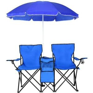 Camping Chairs Folding Picnic Portable Chair Set Equipment With Table Umbrella