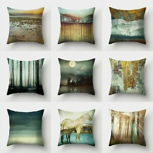 Home Cover Cushion 18#x27;#x27; Sofa Waist Polyester Pillow Case Decor Throw $2.55
