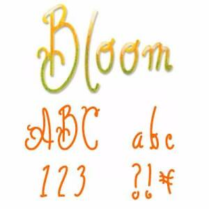 Sizzix Sizzlits Bloom Alphabet Die Set New Sealed Retired -Set 35 Dies -