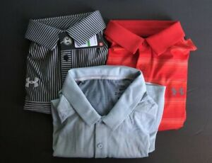 Under Armour And Nike Men's Golf Polo Lot (3) LARGE NEW WITH TAGS FREE SHIPPING