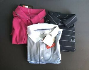 Under Armour Puma Nike Men's Golf Polo Lot (3) LARGE NEW WTAGS FREE SHIPPING