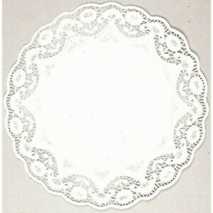 White Round Lace Paper Doilies 10