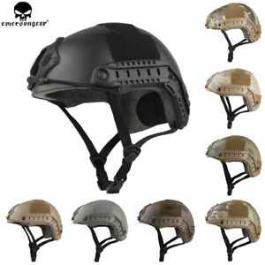 Emerson Tactical Fast Helmet MICH cycling MH Type w NVG Shroud+Side Rail casque