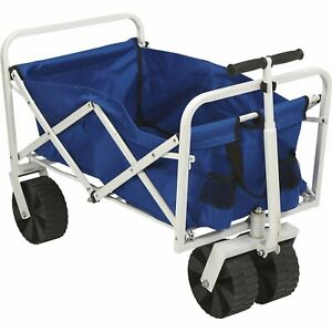Folding Collapsible Beach Wagon Garden Camping All-Terrain Cart- 150-Lb. Cap.