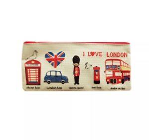 Popular Students Pen Pencil Case Canvas Bag Cartoon Stationery Pouch Coin Purse