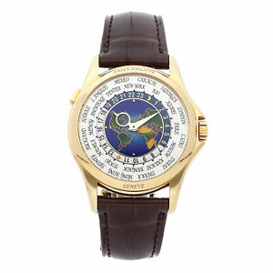 Patek Philippe Complications World Time Auto Yellow Gold Mens Watch 5131J-001