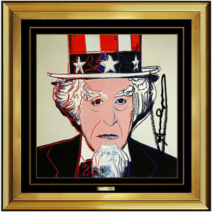 Andy Warhol Uncle Sam Color Lithograph Original Hand Signed Myths Screenprint