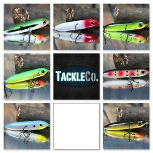Top Water Fishing Lure Walk The Dog Type LOT Of 7 Bass Patterns And Custom Color