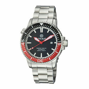 DEEP BLUE MASTER 1000 2.5-60 HOUR AUTOMATIC WATCH RED BLACK COKE DIAL - BNIB
