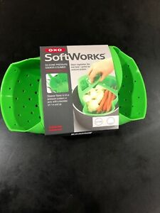 OXO Soft Works Silicone Pressure Cooker Steamer Basket - Green NEW