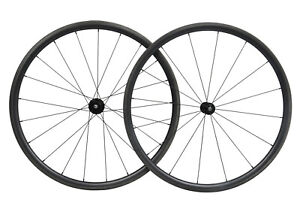 Carbon Wheels Clincher Tubeless road bicycle wheelset 700C race 30mm Rim matt $330.00