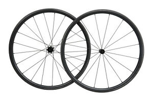 Straight pull Carbon Wheels Clincher Tubeless road bike wheelset 700C 30mm Rim $330.00