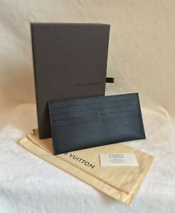 Louis Vuitton BLACK Leather Wallet CARD HOLDER INSERT from Felicie Handbag
