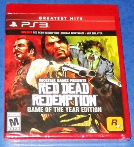 Red Dead Redemption -- Game of the Year Edition PS3 *New! *Sealed! *Free Ship!