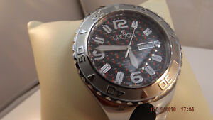 Croton Men's Super C Sport Automatic Rubber & Stainless Steel Bracelet BRAND NEW