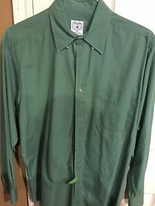 Brooks Brothers Sport Shirt Long Sleeve Medium Green Great Condition $19.99