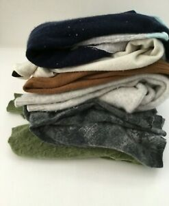 Cashmere Sweater Cutter  lot of 6 Craft Quilt  assorted colors  upcycle recycle