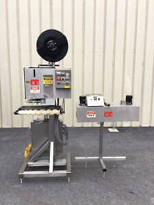 PDC 65-M Tamper Evident Neck Bander Shrink Sleever with PDC Heat Tunnel Video