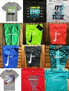 BOYS NIKE SIZE 7 ~ T-SHIRTS  ~ BASKETBALL SHORTS ~ DRI-FIT ~ $270 SUMMER LOT