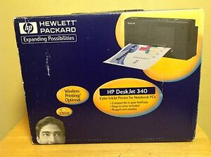 HP Deskjet 340 Portable Inkjet Printer w Extras - Brand New