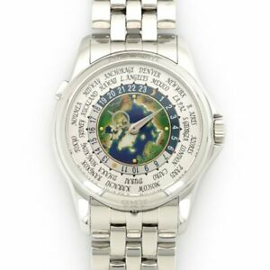 Men's Patek Philippe World Time Platinum w Opal Dilal 51311P-001